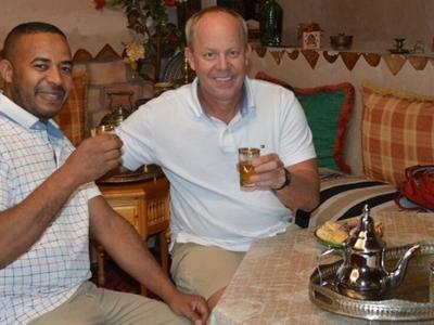 having-mint-tea-morocco