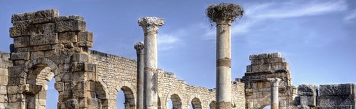 Morocco imperial cities tour visiting Volubilis roman ruins